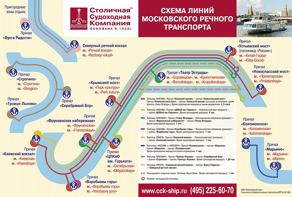 Схема маршрутов наземного